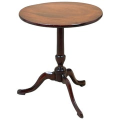 Georgian 18th Century Mahogany Miniature Tripod Table