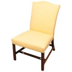 Georgian 18th Century Mahogany Upholstered Side Chair
