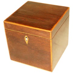 Georgian 18th Century Rosewood Square Tea Caddy