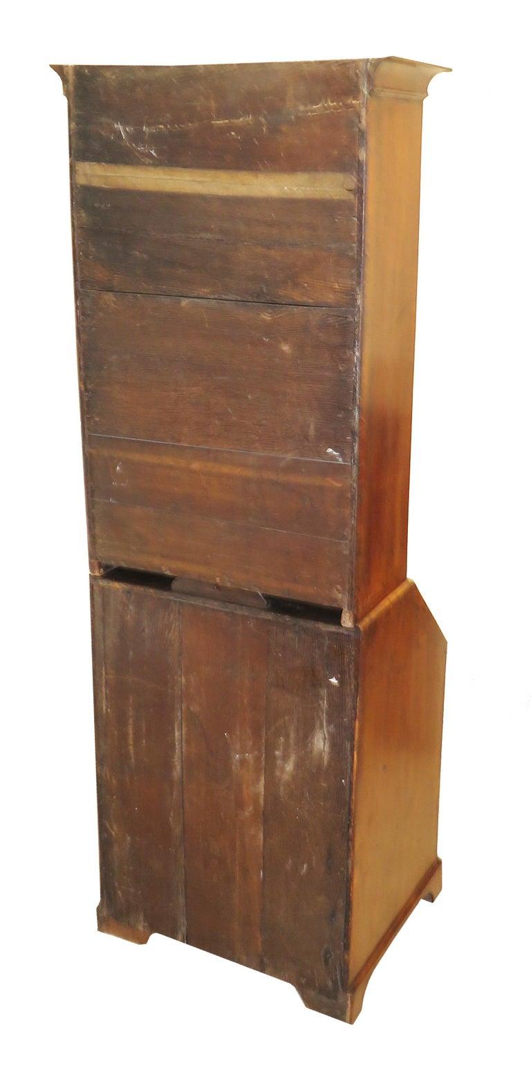 Georgian 18th Century Walnut Antique Bureau Bookcase 5
