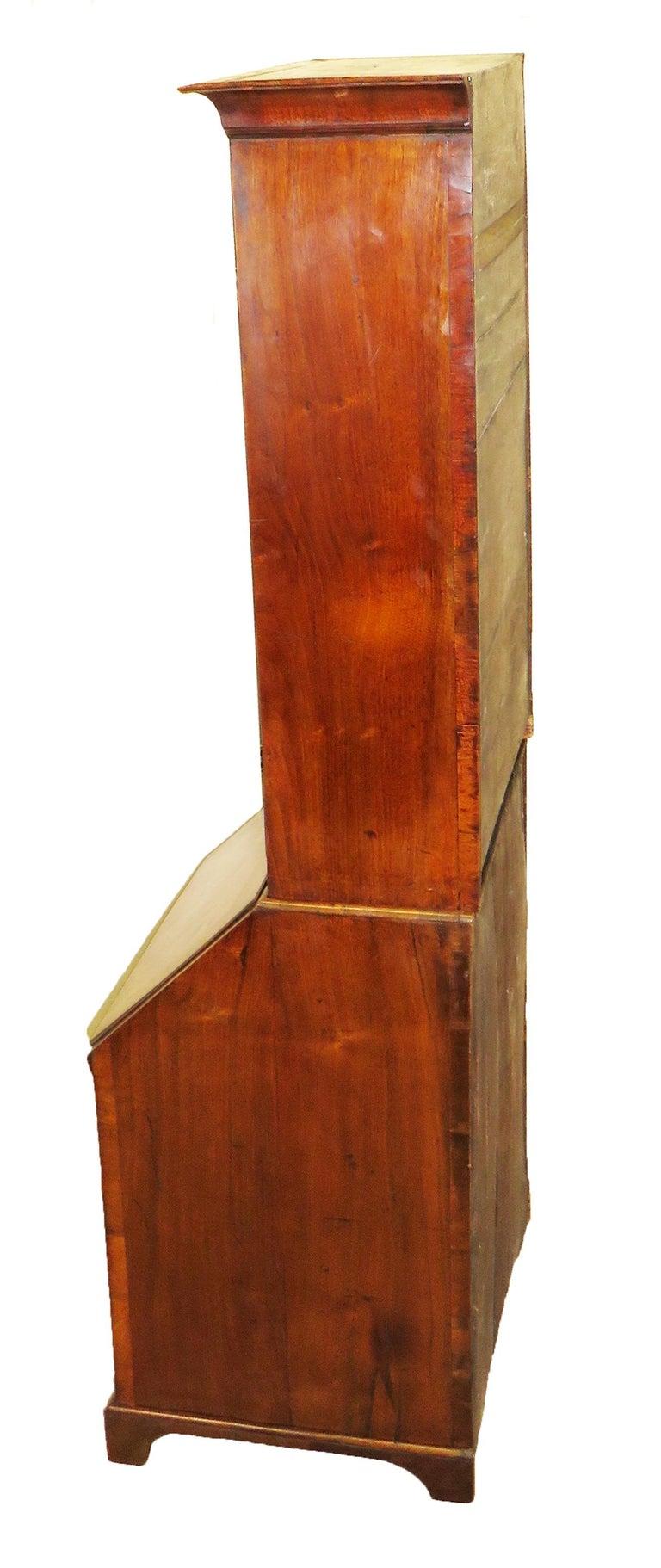Georgian 18th Century Walnut Antique Bureau Bookcase 2