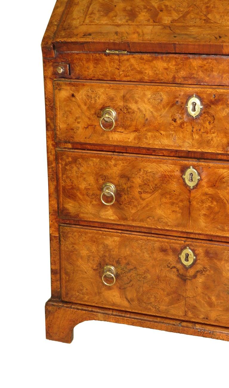 Georgian 18th Century Walnut Antique Bureau Bookcase 3
