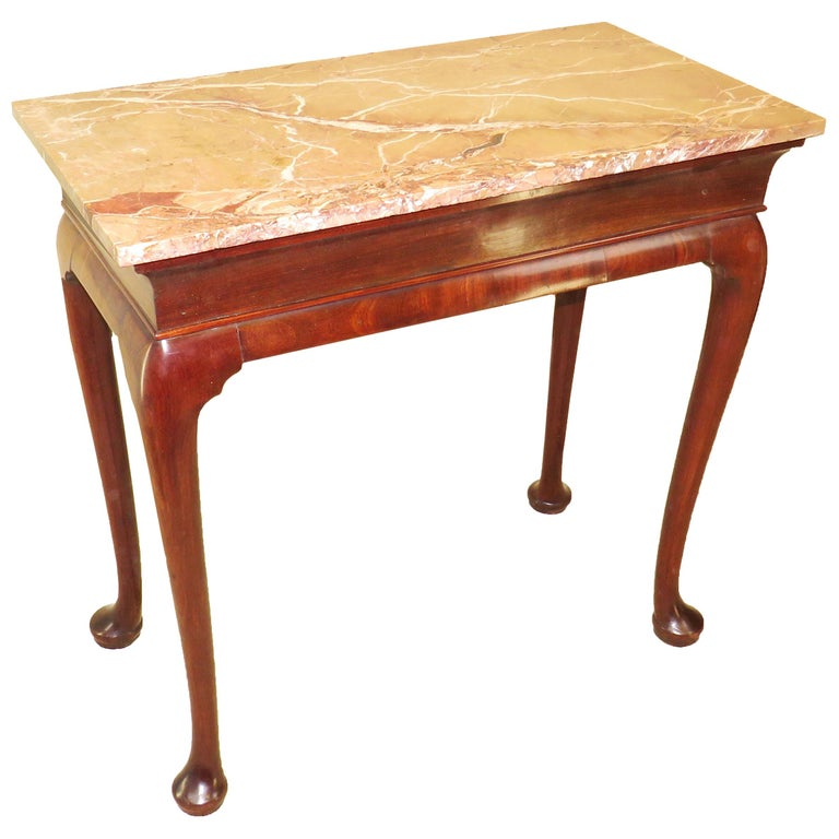 Georgian 18th Century Walnut and Marble Centre Table