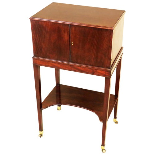 Georgian 19th Century Mahogany Collectors Cabinet on Stand