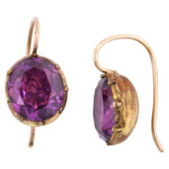 Georgian Amethyst Paste Earrings