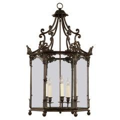 Georgian Anthemion Lantern, Bronzed