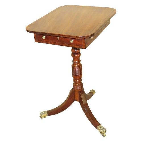 Georgian Antique Mahogany Oblong Lamp Table