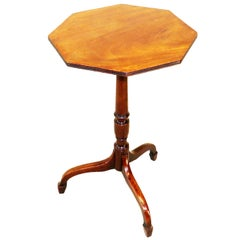 Georgian Antique Mahogany Octagonal Wine Table