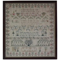 Georgian Antique Textile Sampler, 1779, by Mary Elley