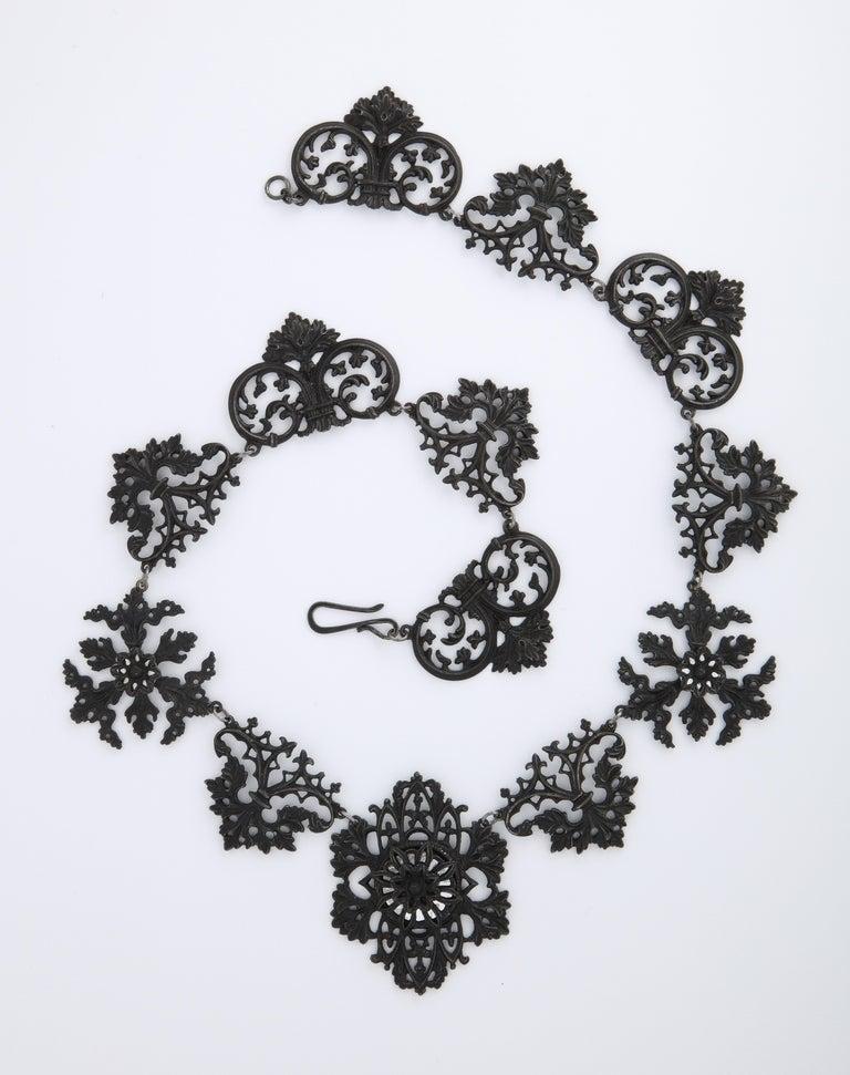 George III Georgian Berlin Iron Necklace c. 1800