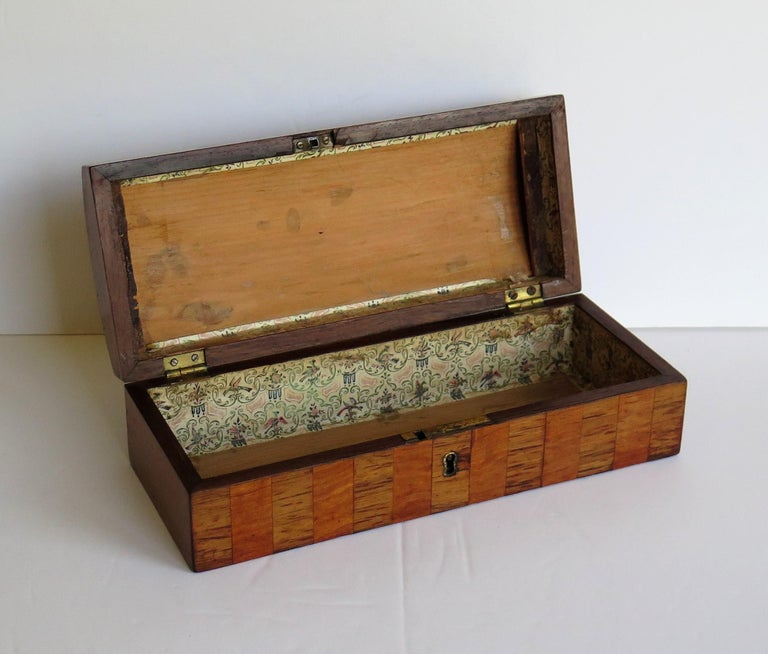 Georgian Box with Domed Lid Cross Banded Mahogany and Satinwood, circa 1810 For Sale 4