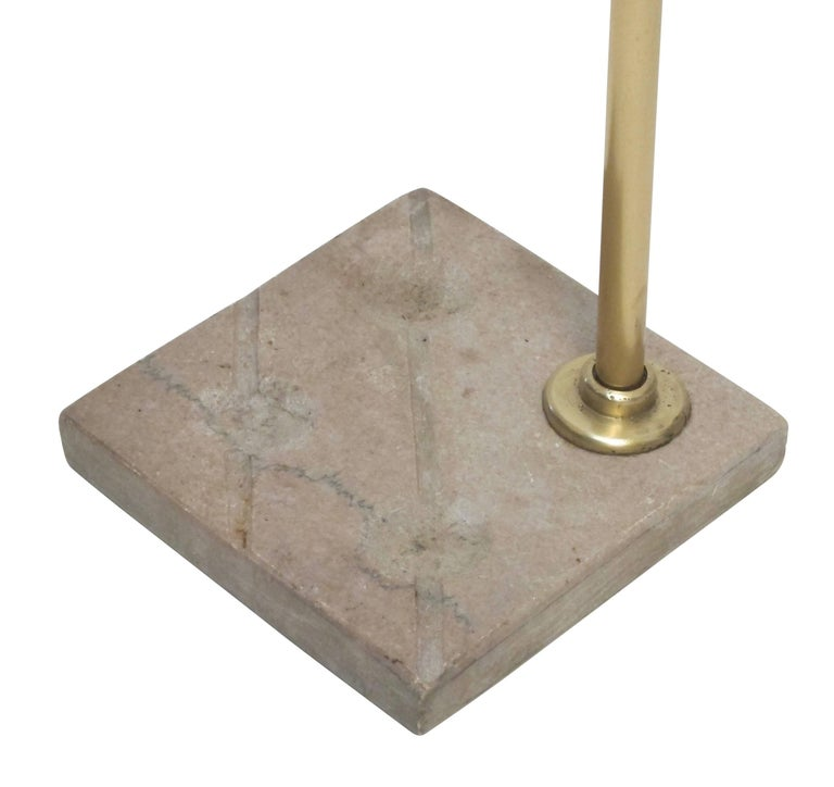Georgian Brass and Steel Fireplace Tools with Marble Stand, Early 19th Century For Sale 3