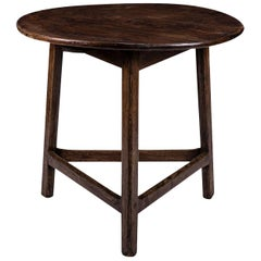 Georgian Brown Oak Cricket Table