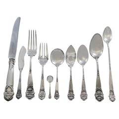 Georgian by Towle Sterling Silver Flatware Set for 12 Service 140 Pieces Dinner