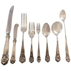 Georgian by Towle Sterling Silver Flatware Set for 8 Service 72 Pcs Dinner
