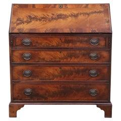 Georgian circa 1810 Flame Mahogany Bureau Desk Writing Table