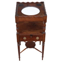 Georgian circa 1820 Mahogany Bedside Table Washstand