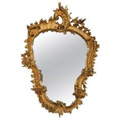 Georgian Carved Gilt Wood Mirror, 19th Century