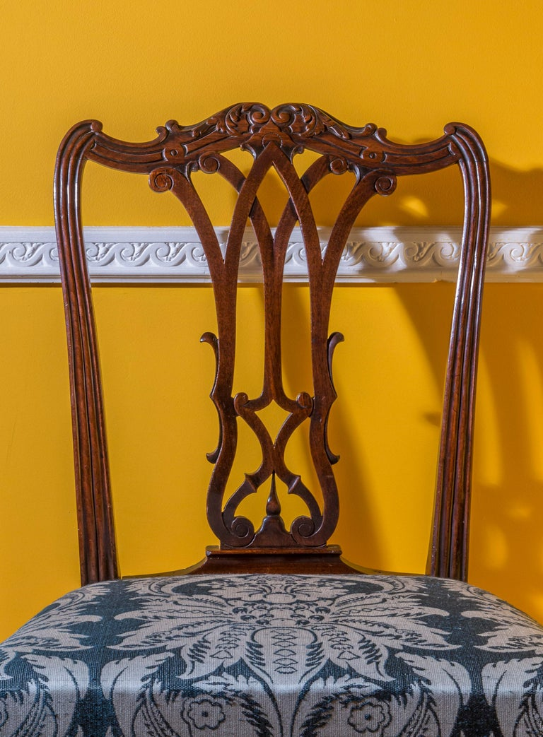 Gothic Georgian Chippendale Bedroom Chair or Side Chair For Sale
