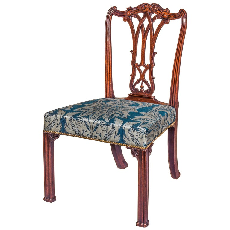 Georgian Chippendale Bedroom Chair or Side Chair For Sale