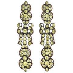 Georgian Chrysoberyl Earrings