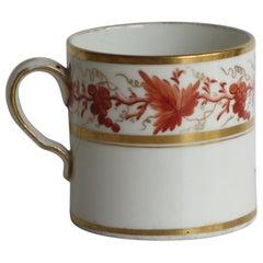 Georgian Coffee Can Porcelain Hand Painted Trailing Vine Pattern, circa 1805