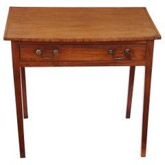 Georgian Crossbanded Mahogany Desk Writing Side Table