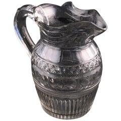 Georgian Cut Glass Jug, 19th Century