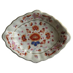 Georgian Derby Porcelain Serving Dish or Bowl Hand-Painted, Fully Marked Ca 1815