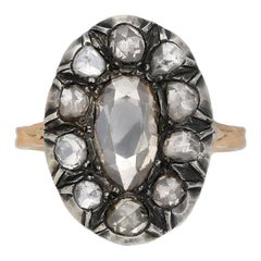 Georgian Diamond Coronet Cluster Ring, English, circa 1820