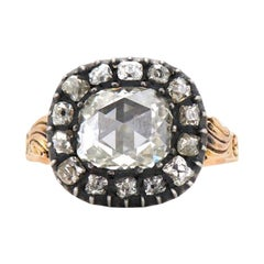Neil Lane Couture Georgian Diamond, Silver-Topped Yellow Gold Ring