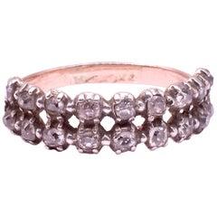 Georgian Double-Row Diamond Half Hoop Ring