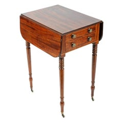 Georgian Drop Leaf Lamp Table, 19th Century