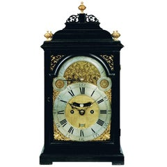 Georgian ebonized bracket clock by William Scafe, London