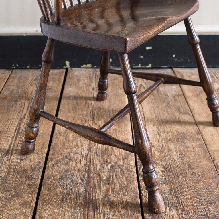 Georgian Elm Windsor Chair For Sale 6