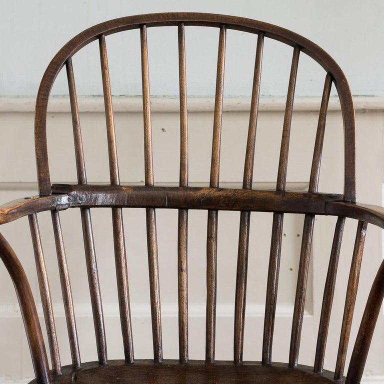 Georgian Elm Windsor Chair For Sale 7