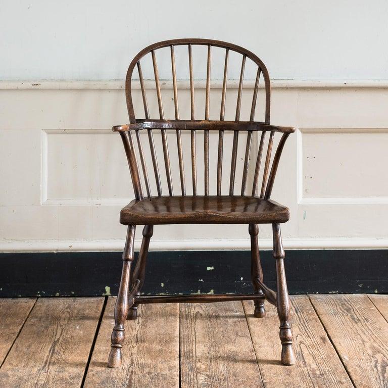 Georgian Elm Windsor Chair For Sale 8