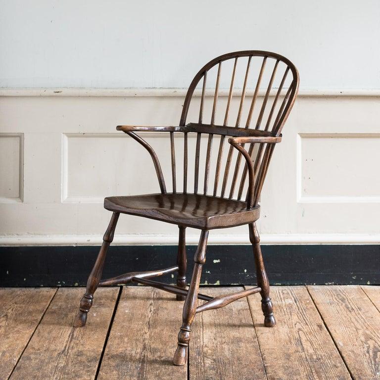 Georgian Elm Windsor Chair For Sale 9