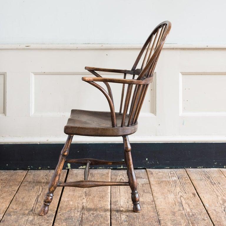 Georgian Elm Windsor Chair For Sale 10