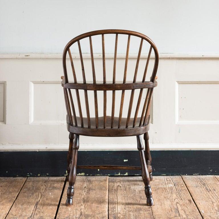 Georgian Elm Windsor Chair For Sale 11