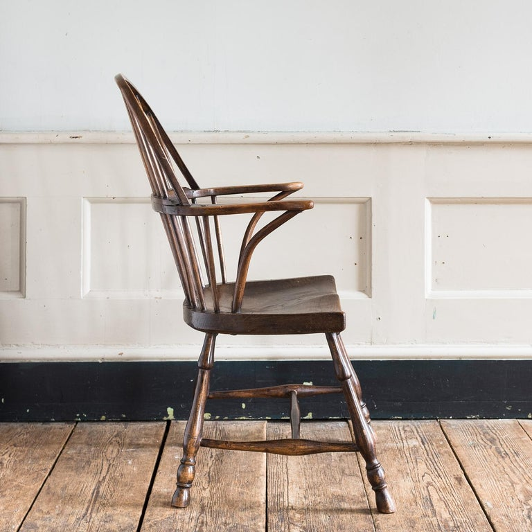 Georgian Elm Windsor Chair For Sale 12