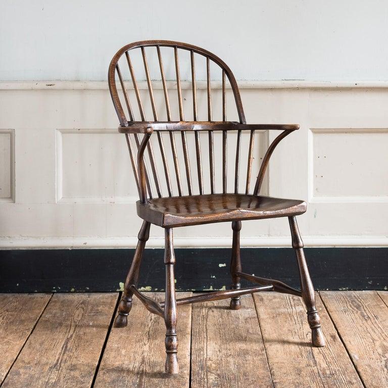 Georgian Elm Windsor Chair For Sale 13