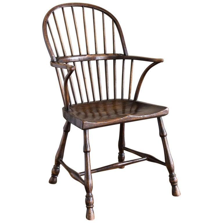 Georgian Elm Windsor Chair For Sale