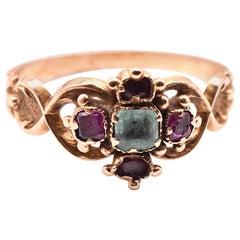 Georgian Emerald and Ruby Ring