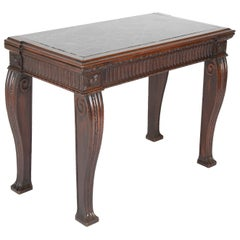 Georgian English Marble Top Console Table