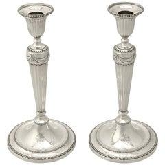 Georgian English Sterling Silver Candlesticks