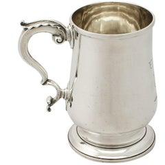 Georgian English Sterling Silver Pint Mug