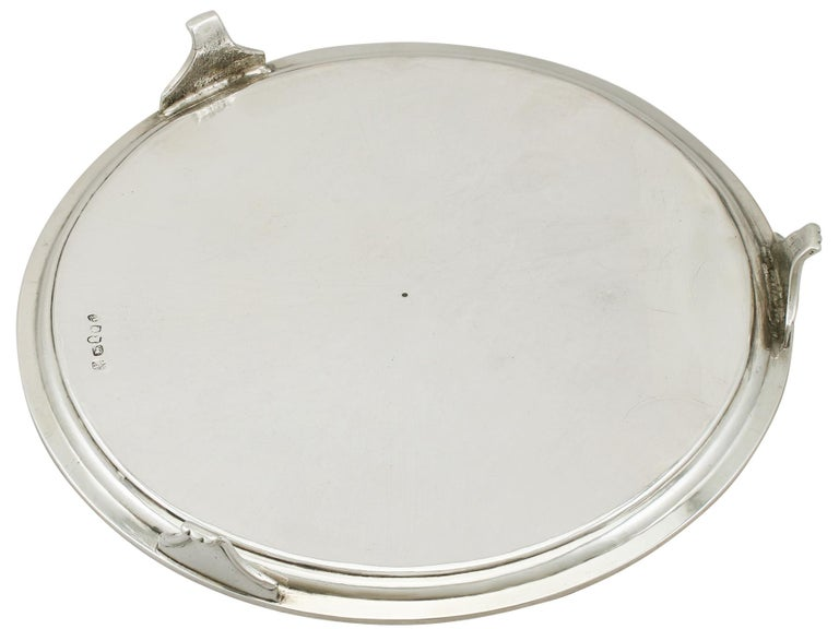 Georgian English Sterling Silver Salver For Sale 3