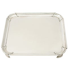Georgian English Sterling Silver Salver