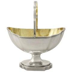 Georgian English Sterling Silver Sugar Basket